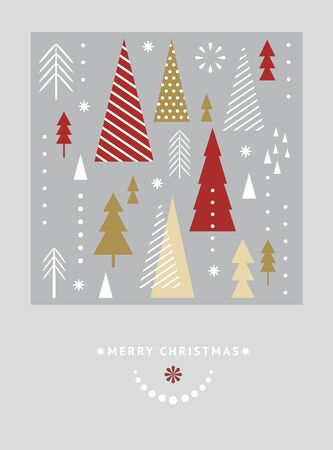 Christmas  and New Year's card. Magazine, leaflet, billboard, sale, banner, brochure design. Stock Illustratie