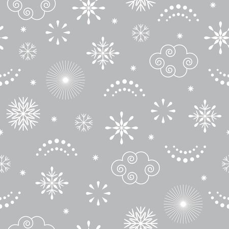 seamless Christmas pattern , gray color Ilustracja