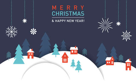 Happy new 2021 year and Merry Christmas - Greeting card, banner.