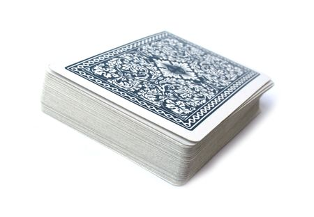 jeu de cartes: Jeu de cartes sur fond blanc  �ditoriale