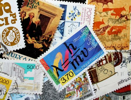 postmarked: Various old stamps