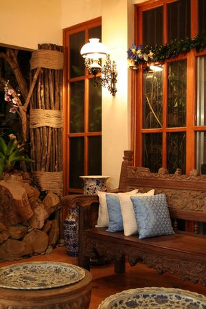 accommodation space: Living Room at night