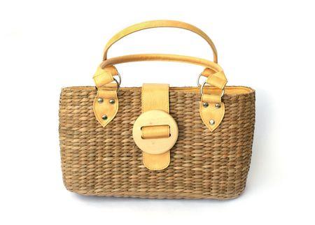 likes: Isolated fashion straw bag