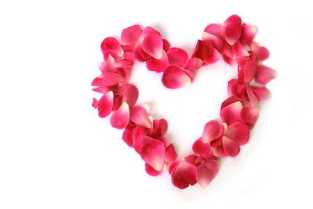 Heart shaped on white