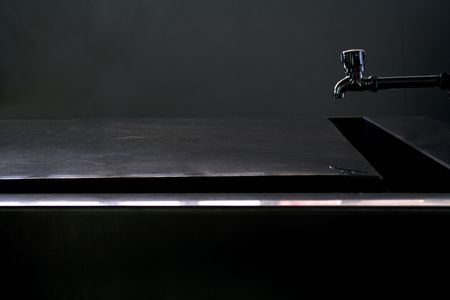 autopsy: Morgue Table at a hospital