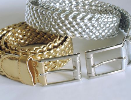 Gold and silver belts