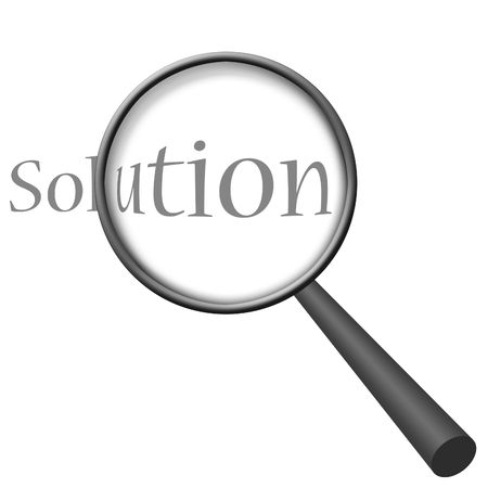 Finding Solution (Magnifying Glass Series) Stock Photo
