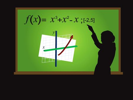 virtual classroom: Teaching Calculus (3 of 3) Stock Photo