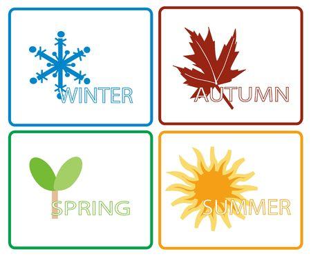 Four Seasons Illustration Stock Illustration - 383304