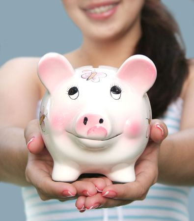 college fund savings: Saving for College Stock Photo