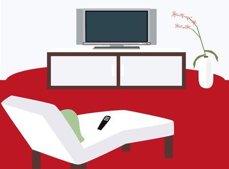 show plant: TV Area Illustration Stock Photo