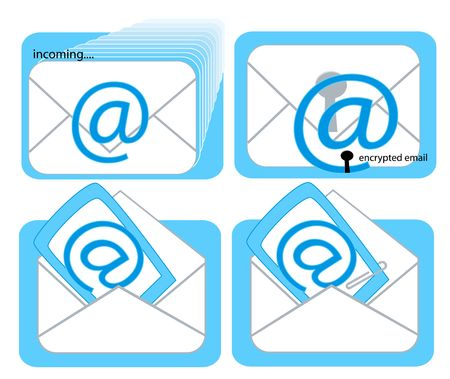 encrypted: Incoming Email, Encrypted Email, Opened Email, Email with Attachment