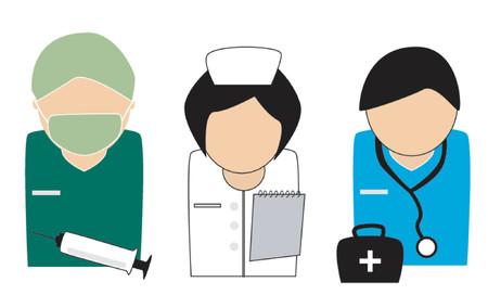enfermera con cofia: Gente cuidado de la salud de vectores