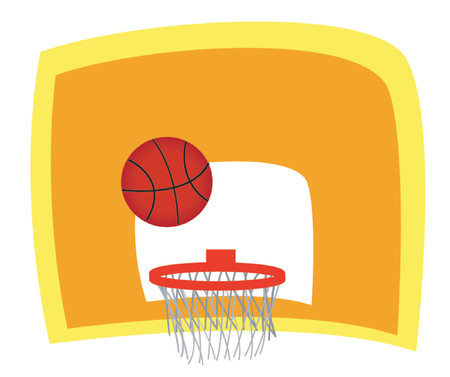 educacion fisica: Baloncesto  Vectores