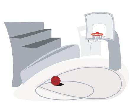 educacion fisica: Cancha de baloncesto