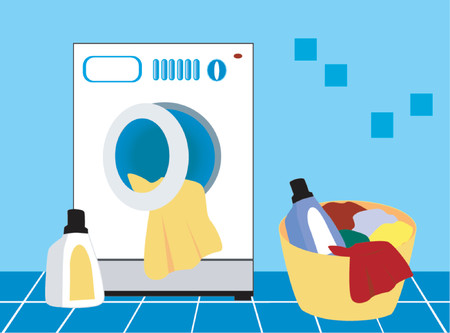 Laundry Day Stock Illustratie
