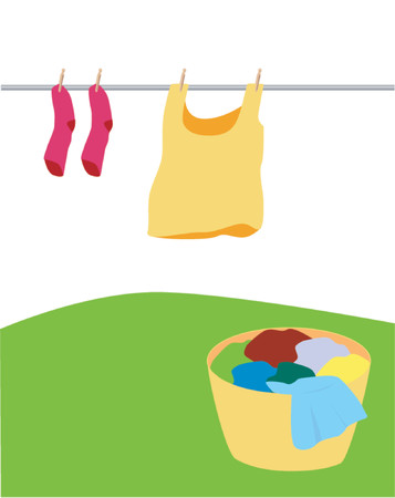 bedclothes: Laundry Day Illustration