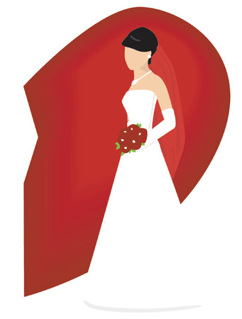available: Bride - Groom available Illustration