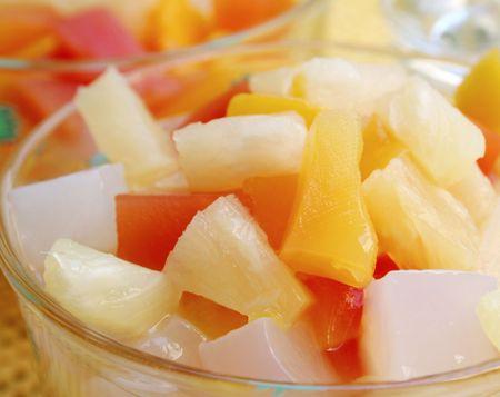 nata: Tropical Fruit Cocktail Stock Photo