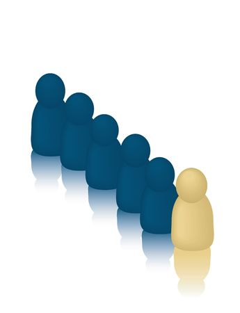 follow the leader: Business People Concepts: Follow the Leader