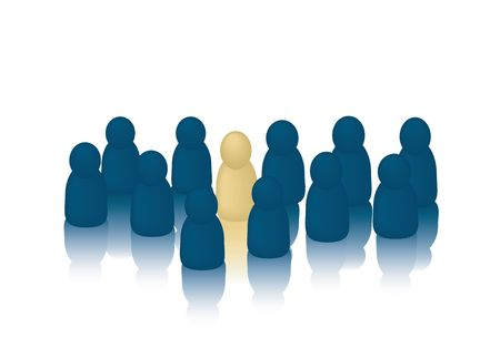 Business People Concept Series: Stand out from the Crowd photo