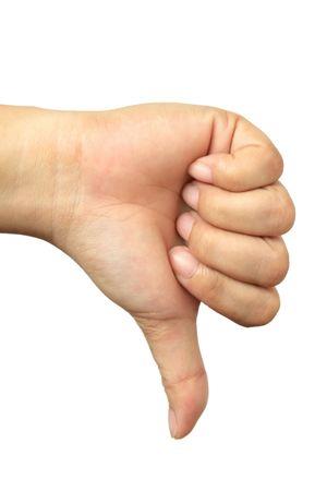 Hand Talk Series - Thumbs Down Stock Photo - 601253