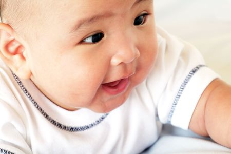 Four Month Old Asian Baby Boy photo