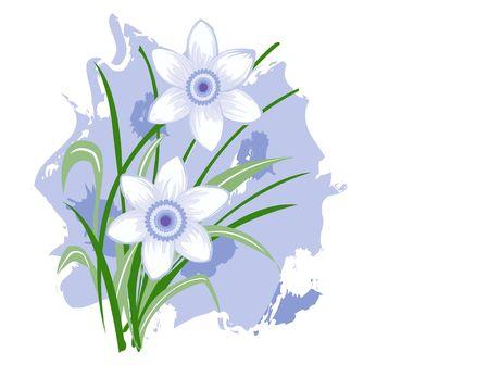 FLoral Design: Purple flowers illustration illustration
