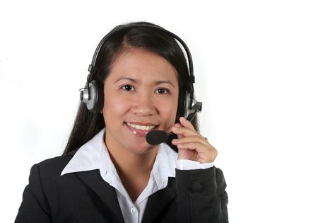 Asian Call Center Agent Stock Photo - 739971