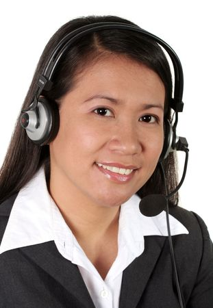 Asian Call Center Agent Stock Photo - 739972