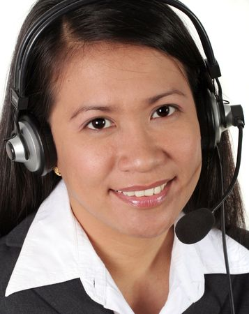 Asian Call Center Agent Stock Photo - 740204