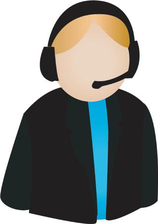 call center agent: Call Center Agent icona Vettoriali
