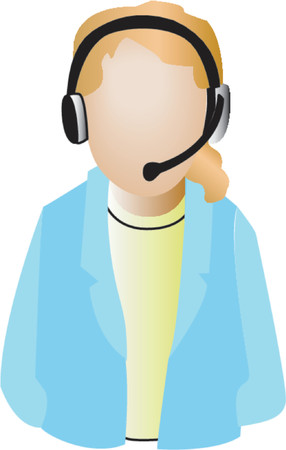 telemarketer: Call Center Agent Icon