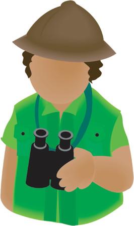 Safari Guide Icon Vector