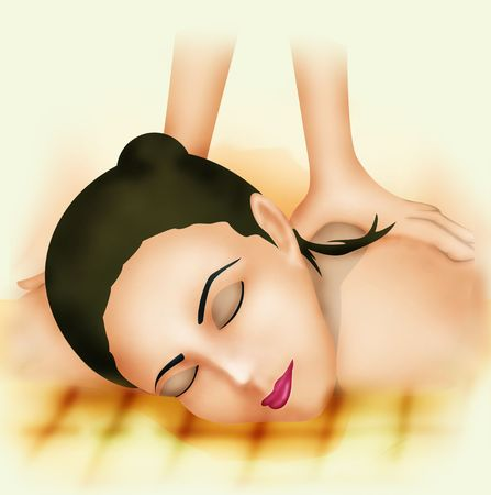 pampering: Spa Illustration Stock Photo