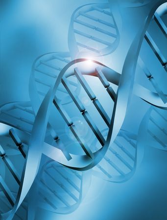 deoxyribonucleic: Abstract DNA (Deoxyribonucleic Acid) Illustration Stock Photo