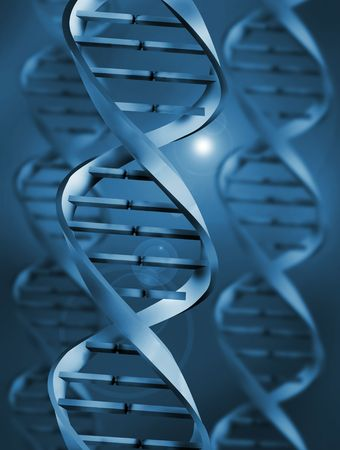 living things: DNA (Deoxyribonucleic Acid)  Illustration Stock Photo