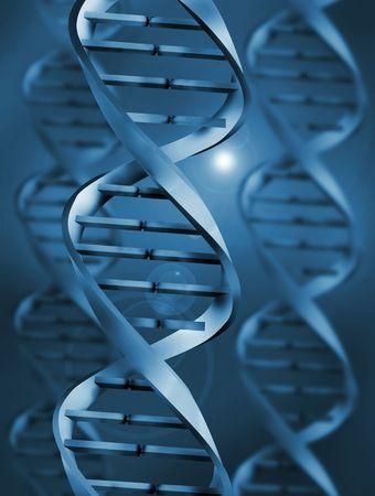 deoxyribonucleic: DNA (Deoxyribonucleic Acid)  Illustration Stock Photo