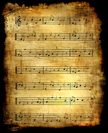 Antique Music Sheet Background