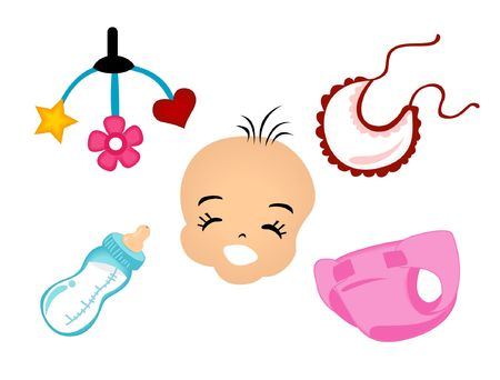 Baby Icons Stock Vector - 1390727