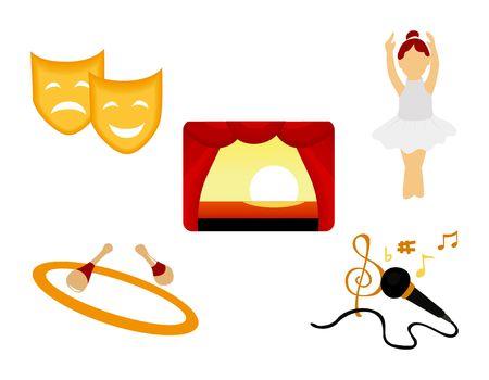 Performing Arts Icon Illustration