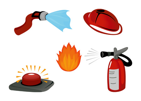 water hoses: Fire Safety Icons