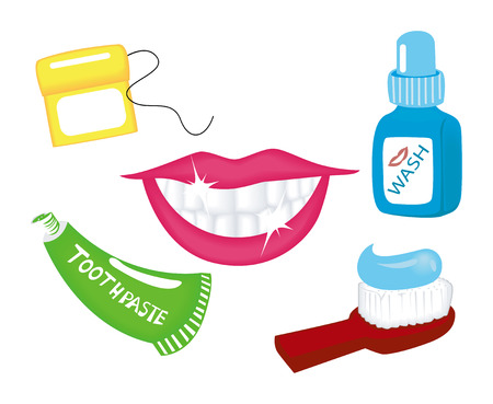 toothpaste: Dental Icons Illustration