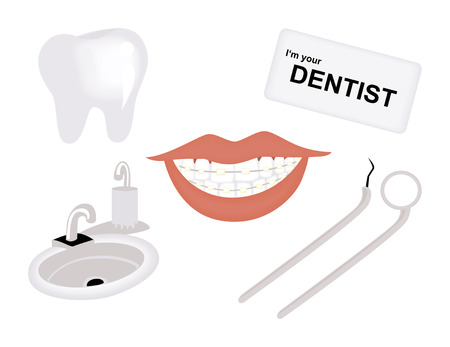 Dental Icons Illustration