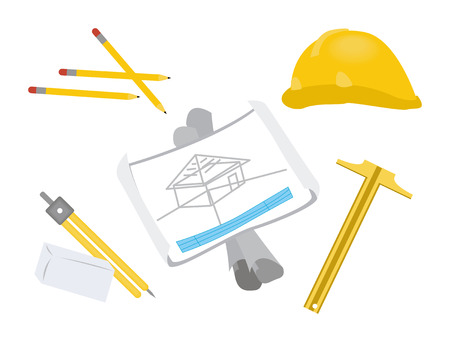 architect tools: Architect Tools Illustration