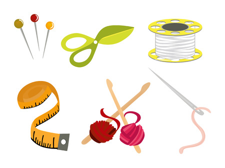 yarns: Sewing Icons Illustration