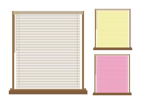 window shade: Persianas Ilustraci�n Vectores