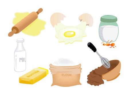 De pictogrammen van het ingrediënt