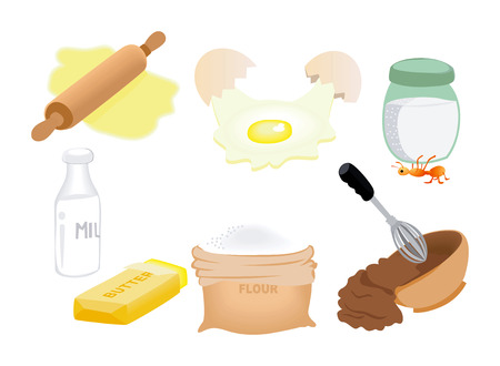 Ingredient Icons Stock Vector - 1390841
