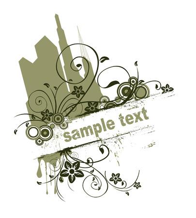 vine art: Urban Grunge Design  Illustration